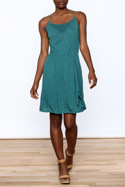 Gentle Fawn Teal Sleeveless Dress - Front full body