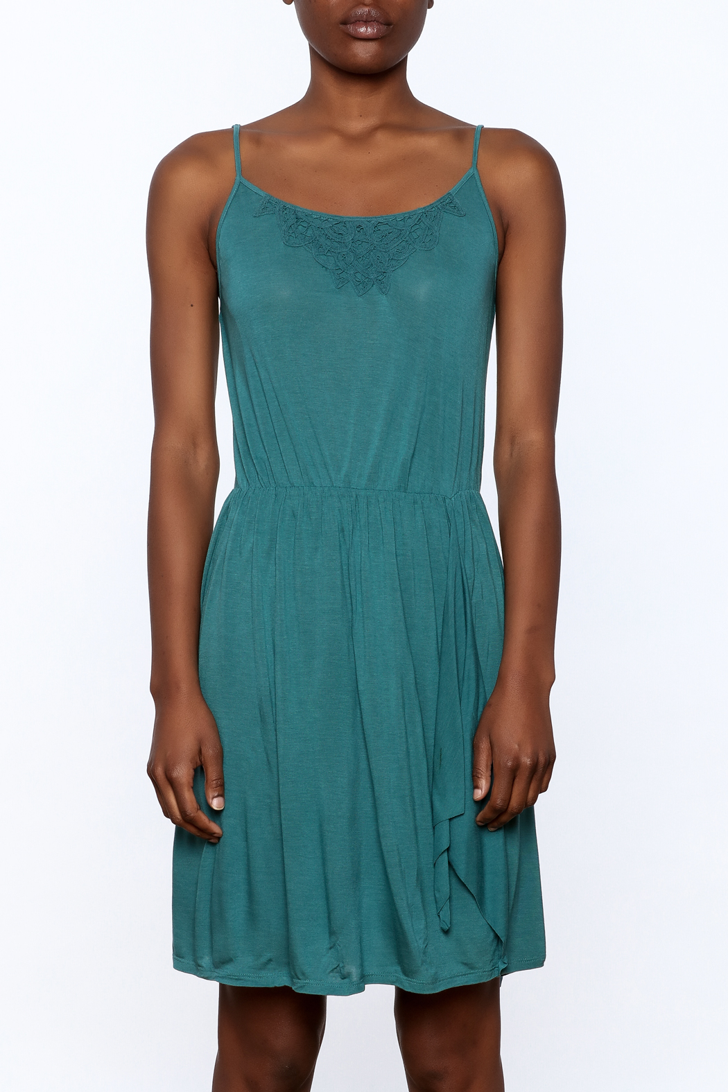 Gentle Fawn Teal Sleeveless Dress - Side Cropped Image