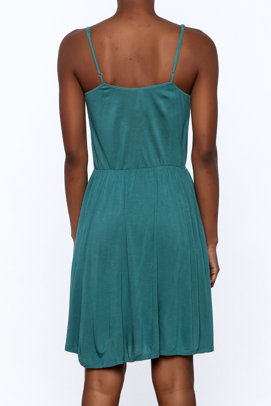 Gentle Fawn Teal Sleeveless Dress - Back Cropped Image
