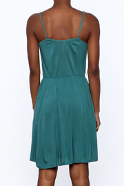 Gentle Fawn Teal Sleeveless Dress - Back cropped
