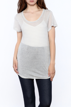 Gentle Fawn Sheer Grey Tunic Top - Product List Image