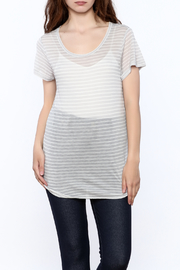 Gentle Fawn Sheer Grey Tunic Top - Product Mini Image