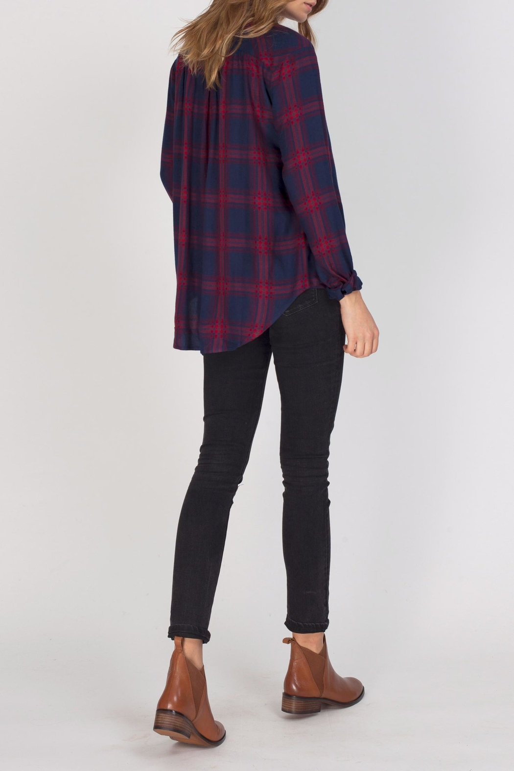 Gentle Fawn Alpha Plaid Top - Side Cropped Image