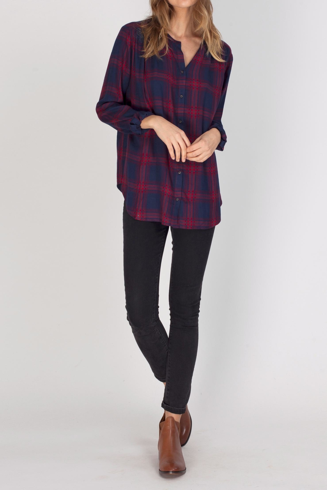 Gentle Fawn Alpha Plaid Top - Main Image