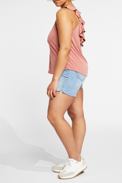 Gentle Fawn Back Ruffle Tank - Alternate List Image