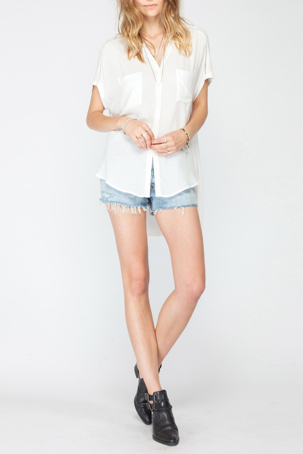 Gentle Fawn Beck Pocket Blouse - Front Cropped Image