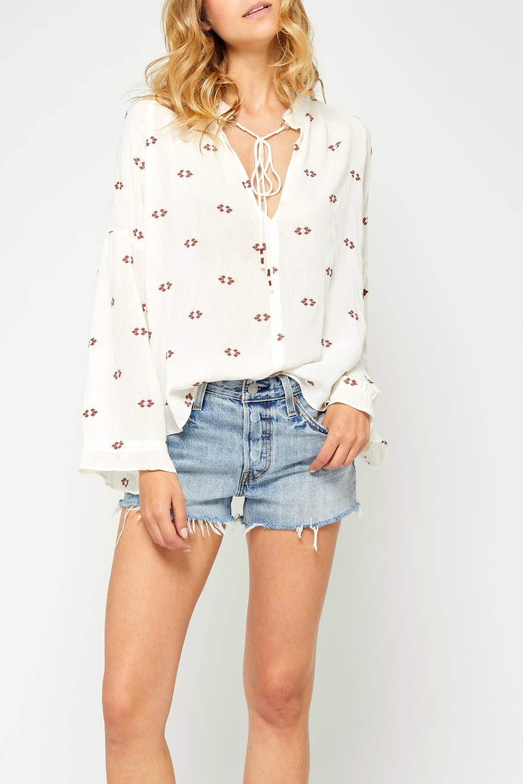 Gentle Fawn Bell Sleeve Blouse - Main Image