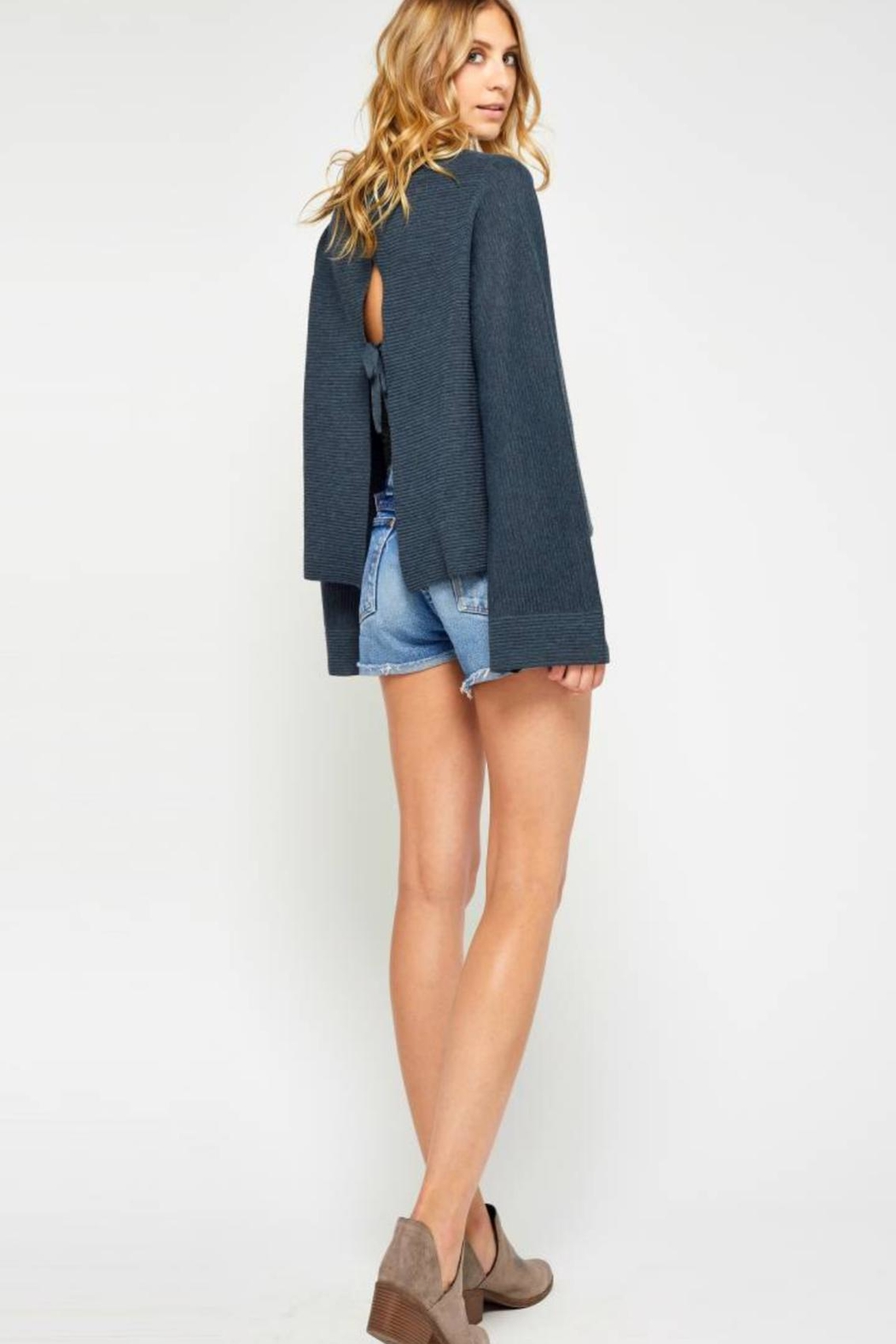 Gentle Fawn Bell Sleeve Sweater - Side Cropped Image