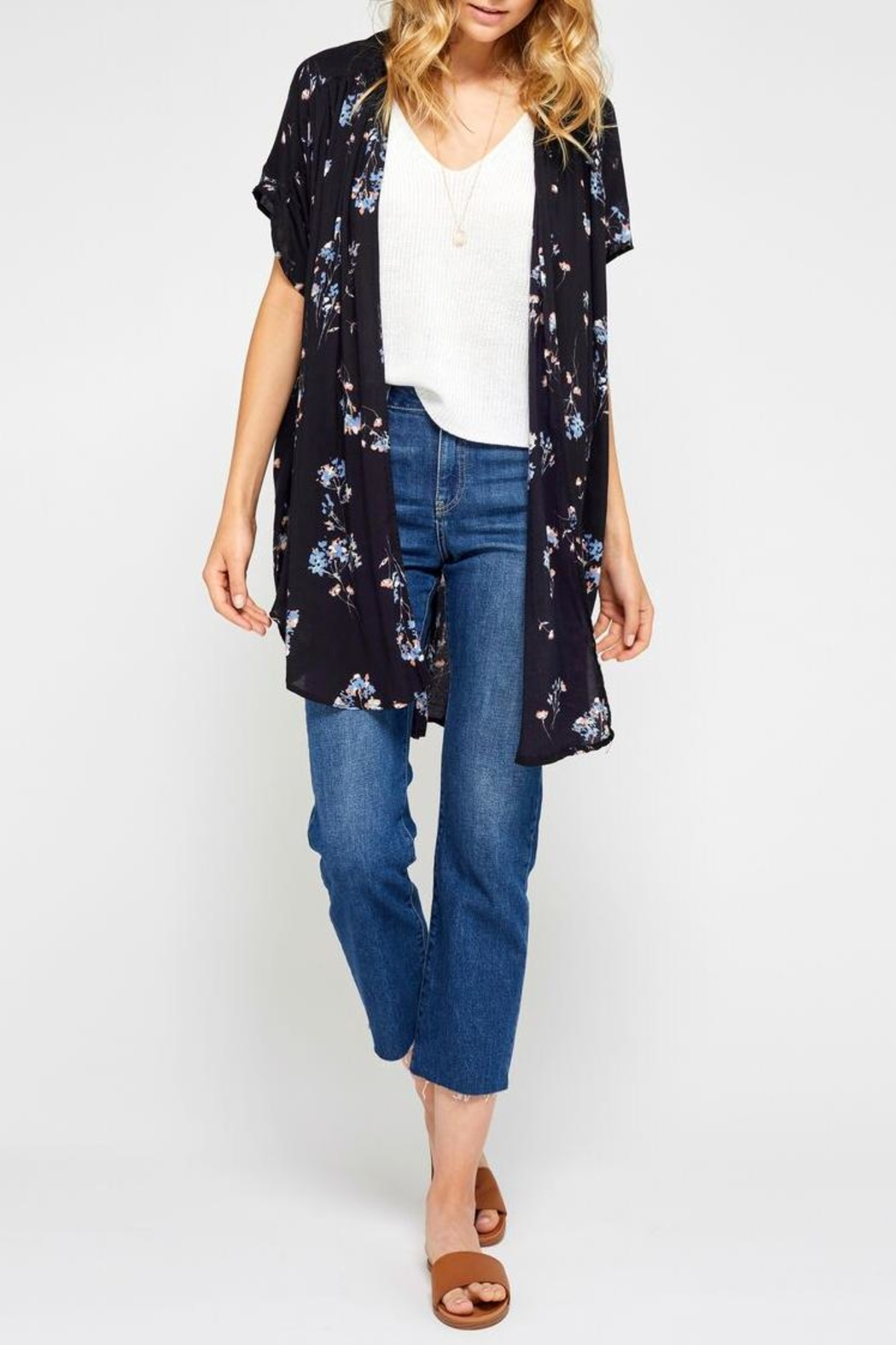 d6d35f88e2ee Gentle Fawn Black Floral Kimono from Ontario by Steel Style Garage ...