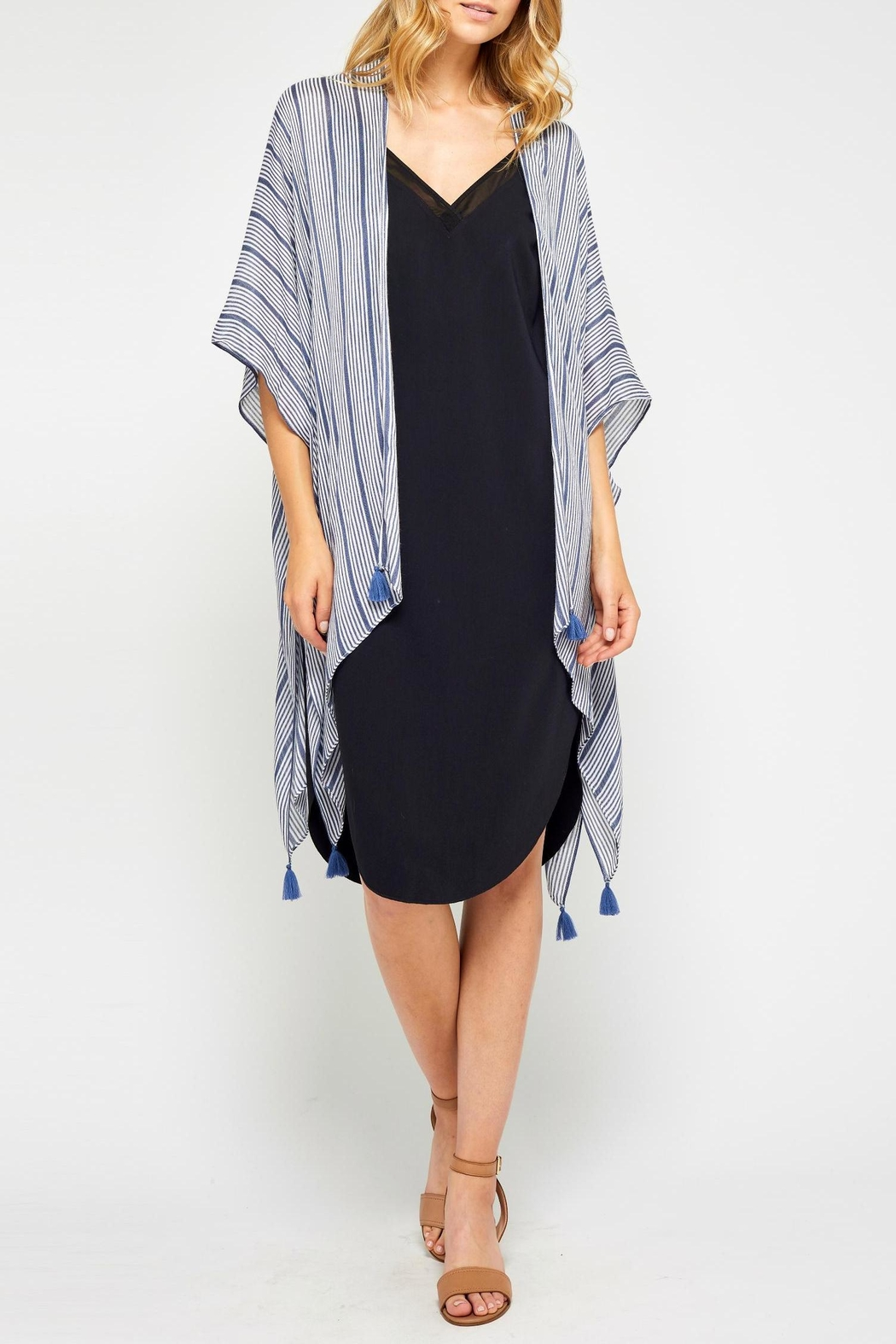 Gentle Fawn Blue Tassel Kimono from Ontario by Steel Style Garage ... 1be517560