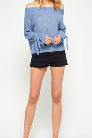 Gentle Fawn Blue Tie Sweater - Product Mini Image