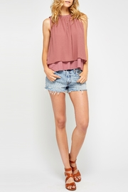 Gentle Fawn Blush Sleeveless Blouse - Front cropped