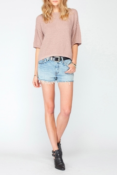 Gentle Fawn Blush Soft Knit Top - Product List Image
