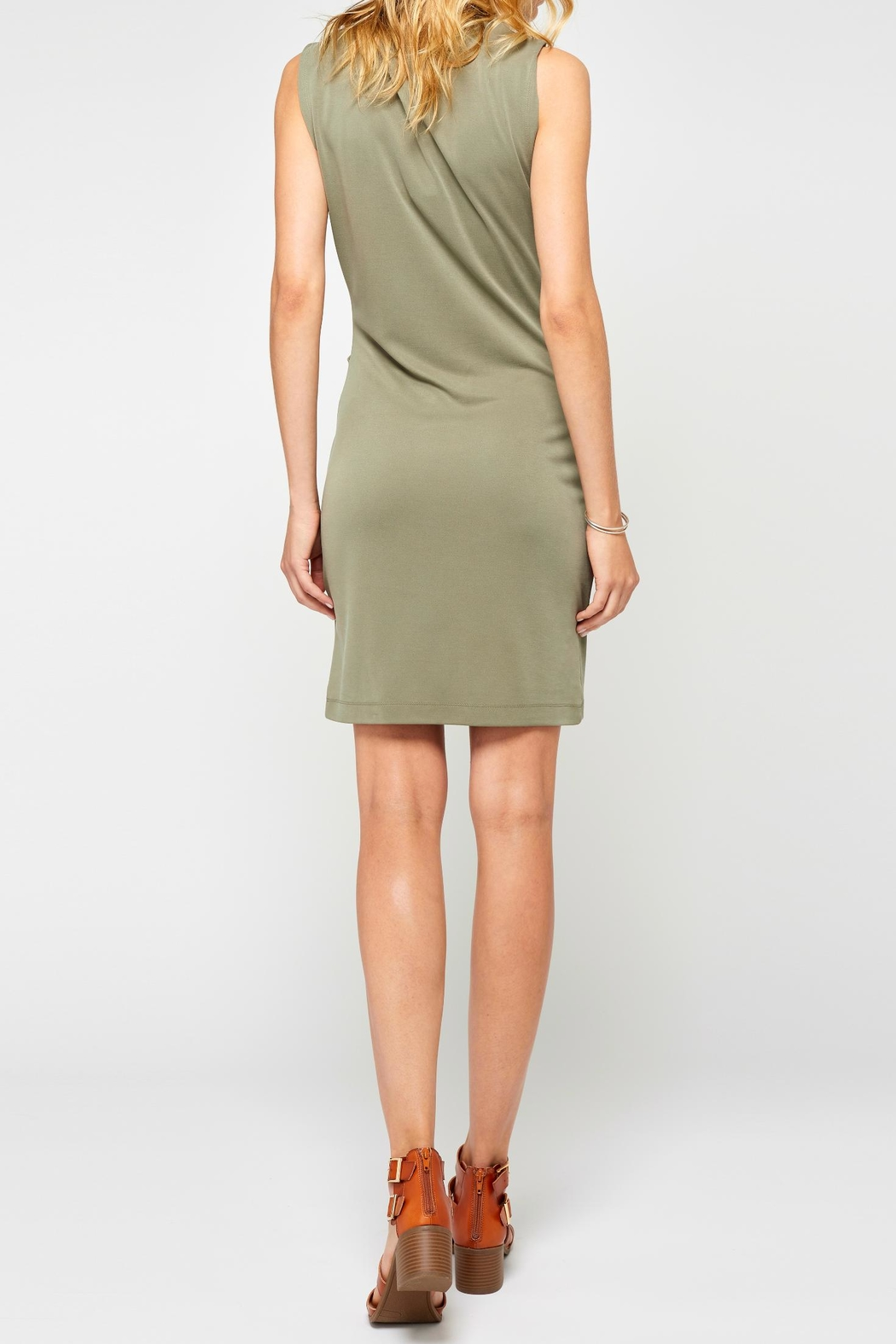 Gentle Fawn Bodycon Mini Dress - Front Full Image