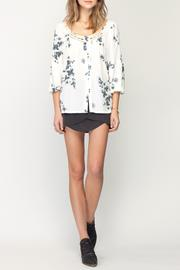 Gentle Fawn Botanical Print Top - Front full body