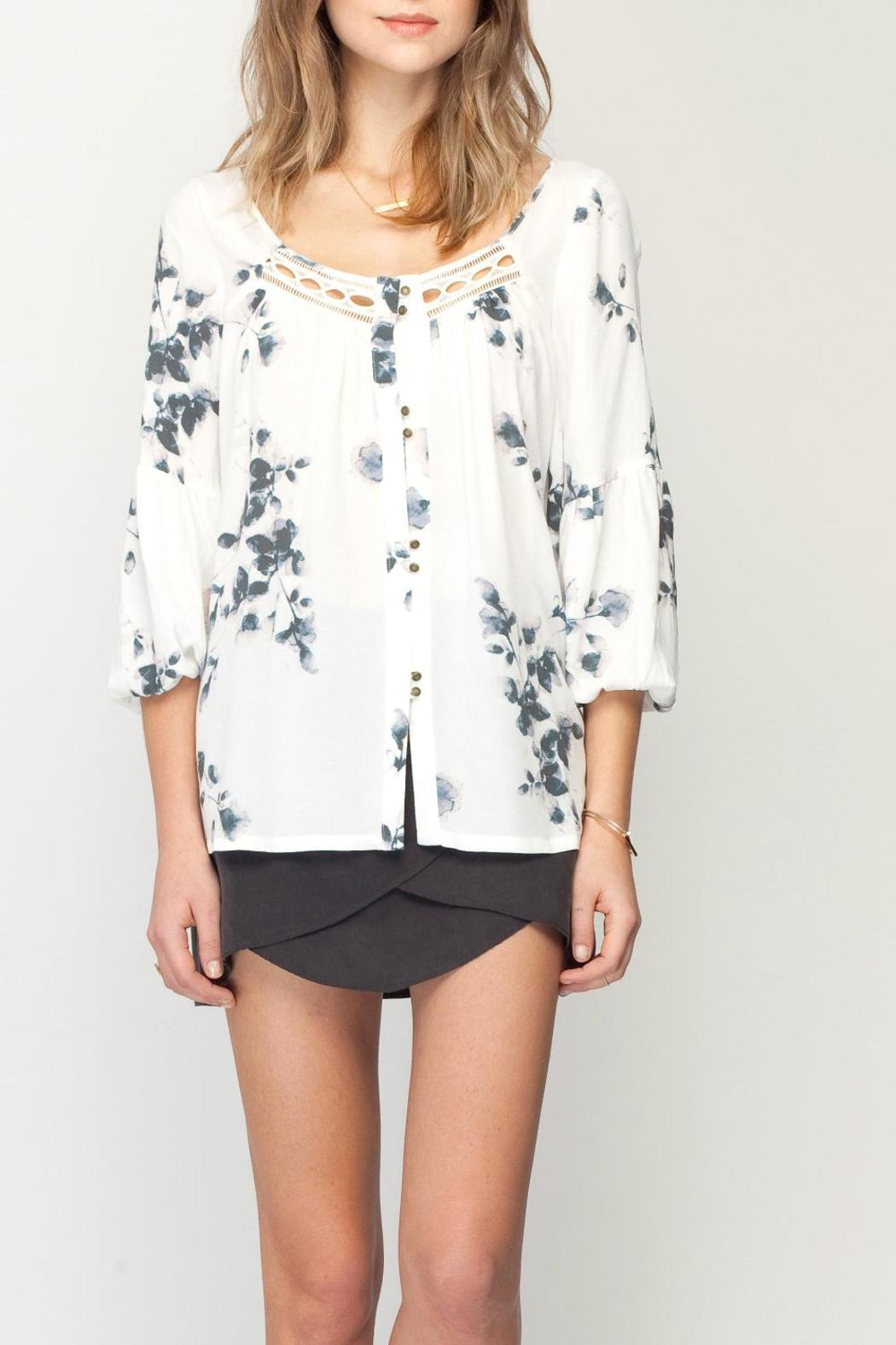 Gentle Fawn Botanical Print Top - Main Image