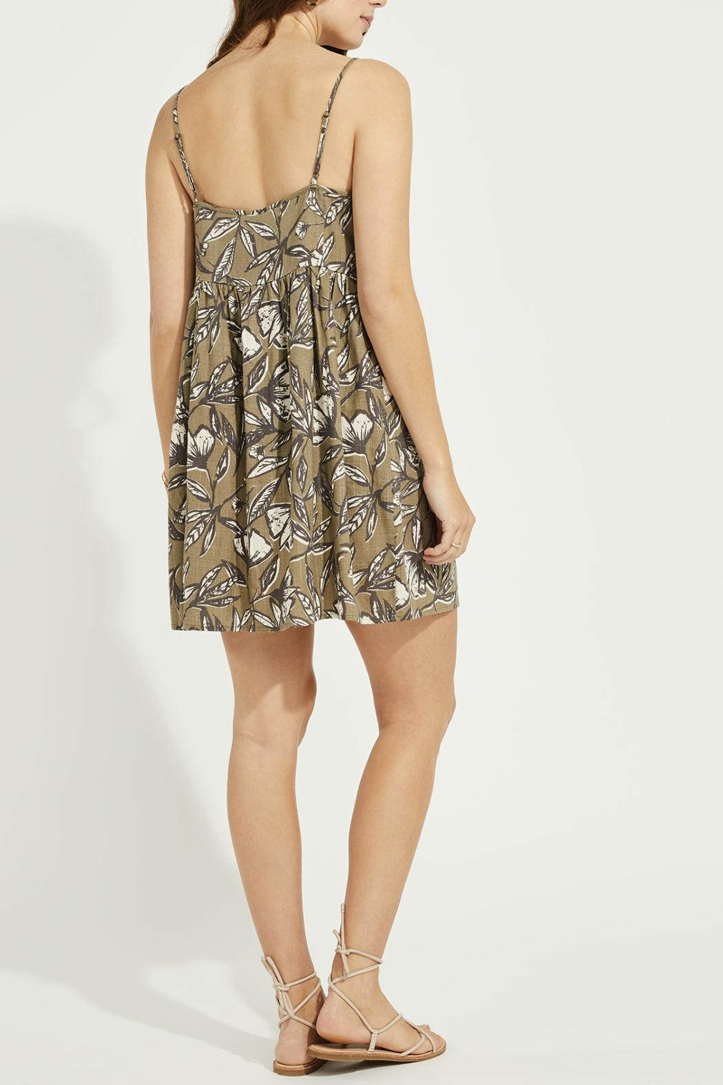 Gentle Fawn Button Front Linen Blend Dress - Side Cropped Image