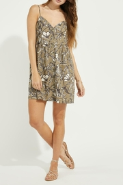Gentle Fawn Button Front Linen Blend Dress - Front cropped