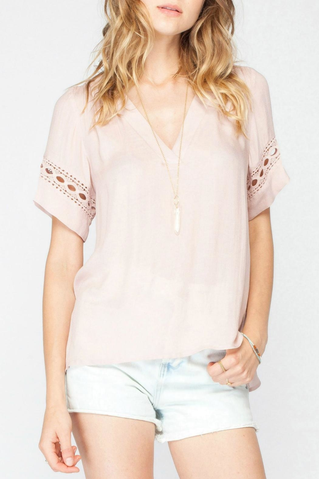 Gentle Fawn Crochet Pink Top - Main Image