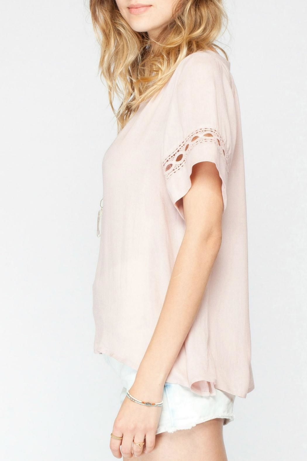 Gentle Fawn Crochet Pink Top - Front Full Image