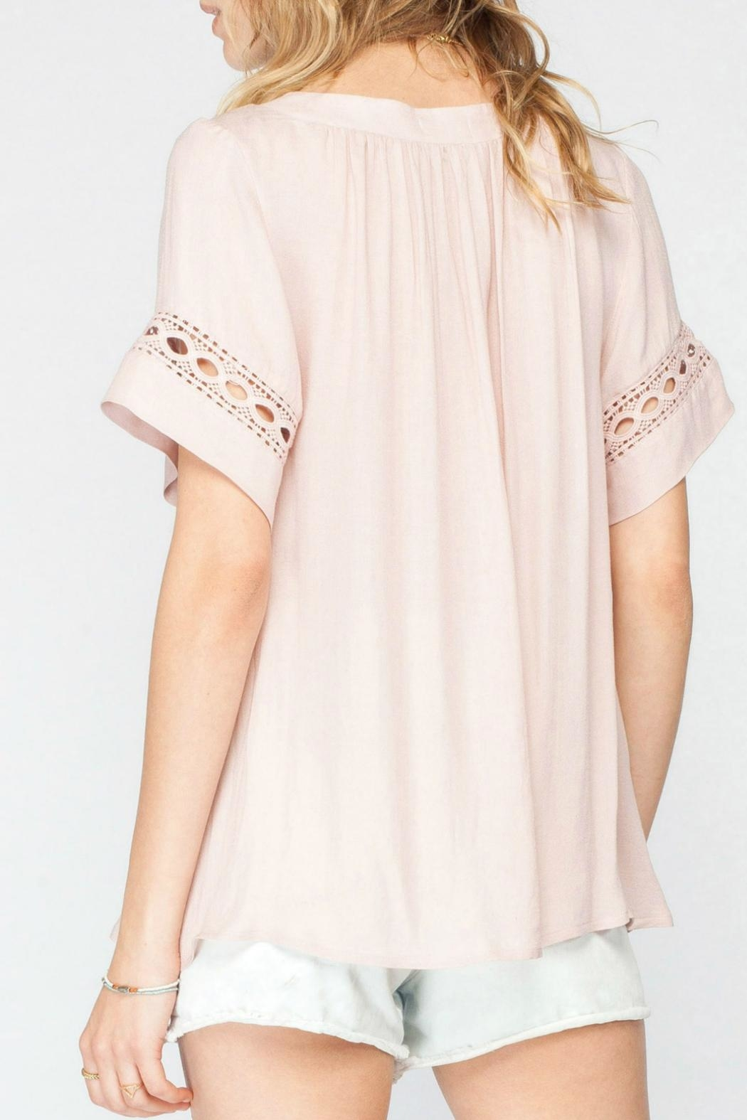 Gentle Fawn Crochet Pink Top - Side Cropped Image