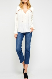 Gentle Fawn Carolyn Cream Blouse - Front cropped
