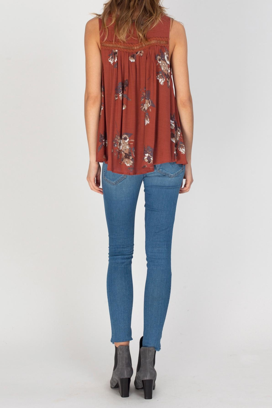 Gentle Fawn Clara-Copper Floral Top - Side Cropped Image