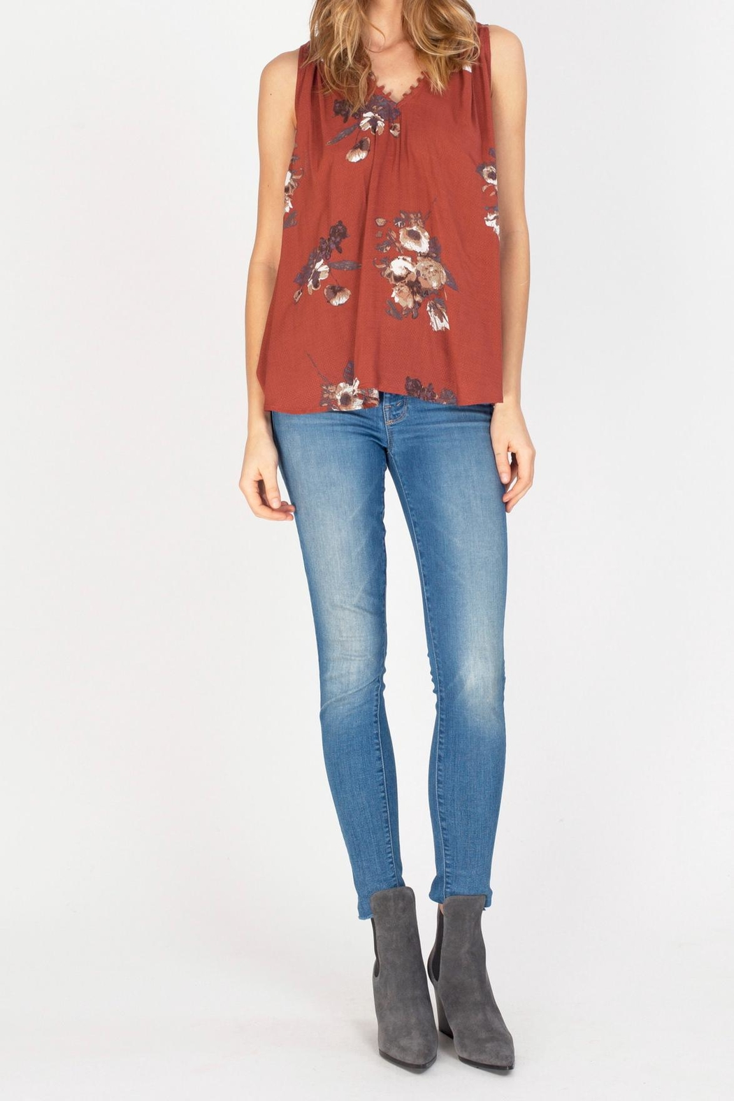 Gentle Fawn Clara-Copper Floral Top - Main Image