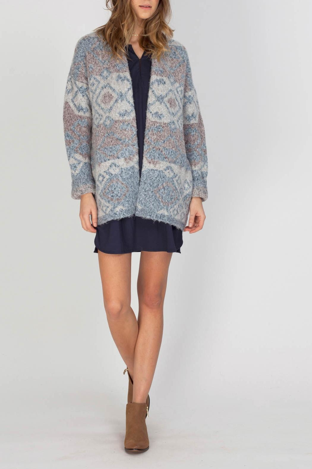 Gentle Fawn Cobalt Sweater Cardigan - Front Cropped Image