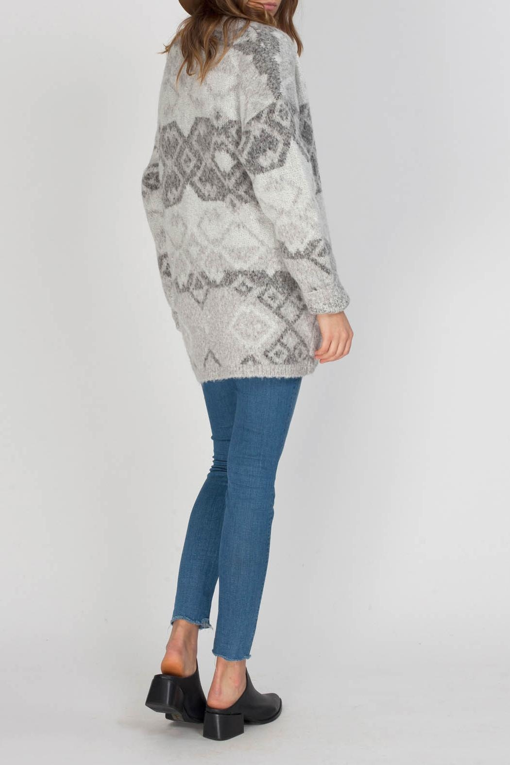 Gentle Fawn Cobalt Sweater Cardigan - Side Cropped Image