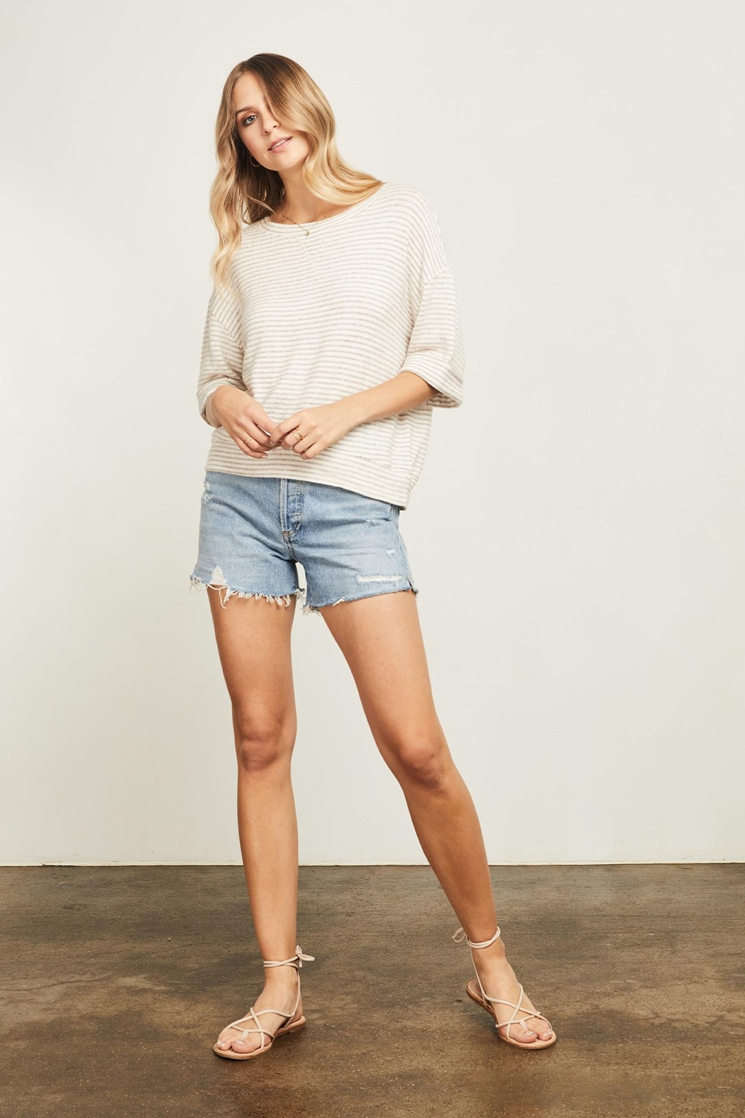 Gentle Fawn Collins Striped Sweater - Front Full Image