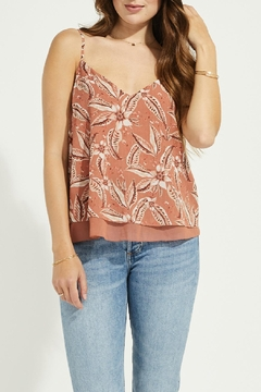 Gentle Fawn Crinkled Chiffon Tank - Product List Image