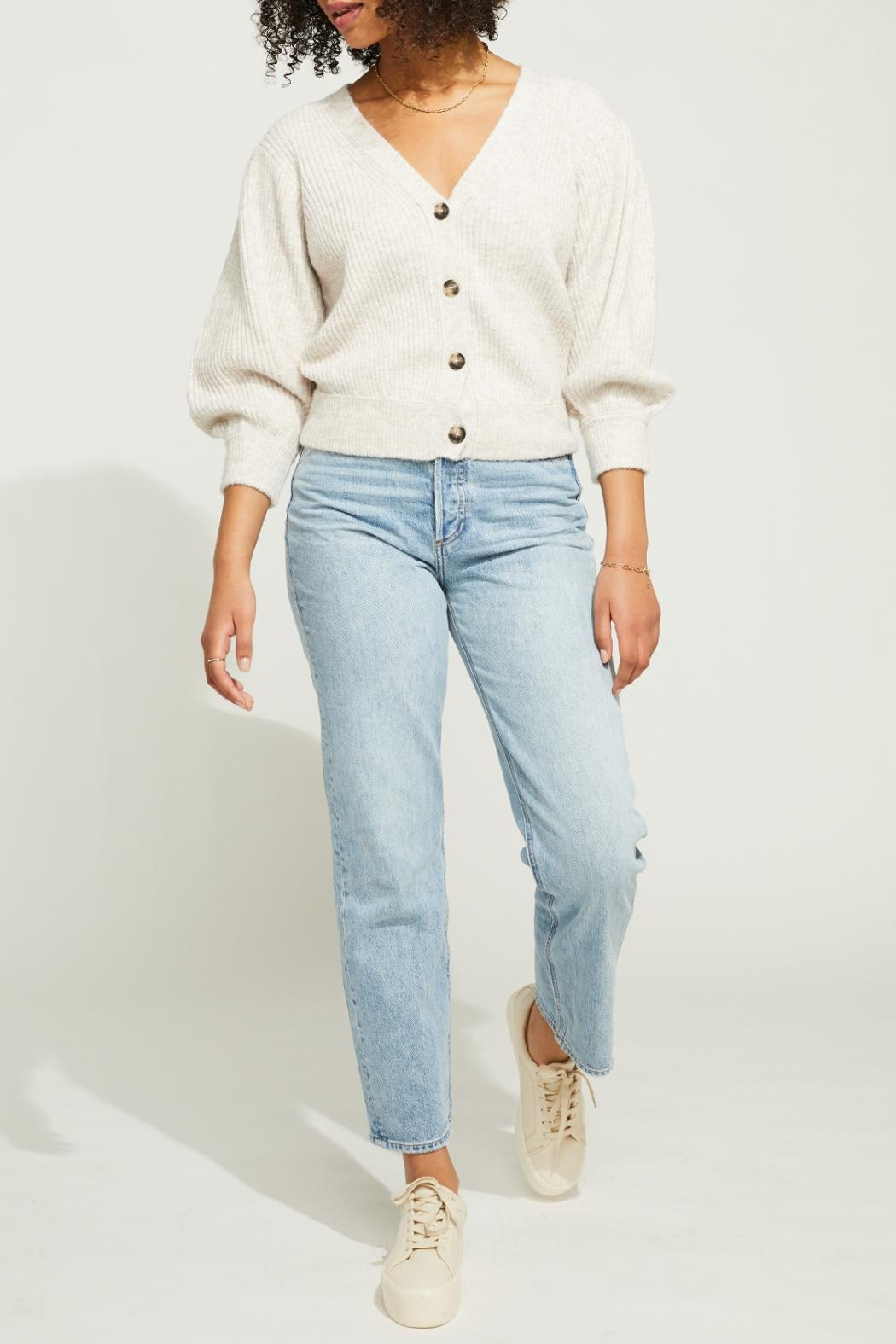 Gentle Fawn Cropped Button Front Cardigan - Side Cropped Image