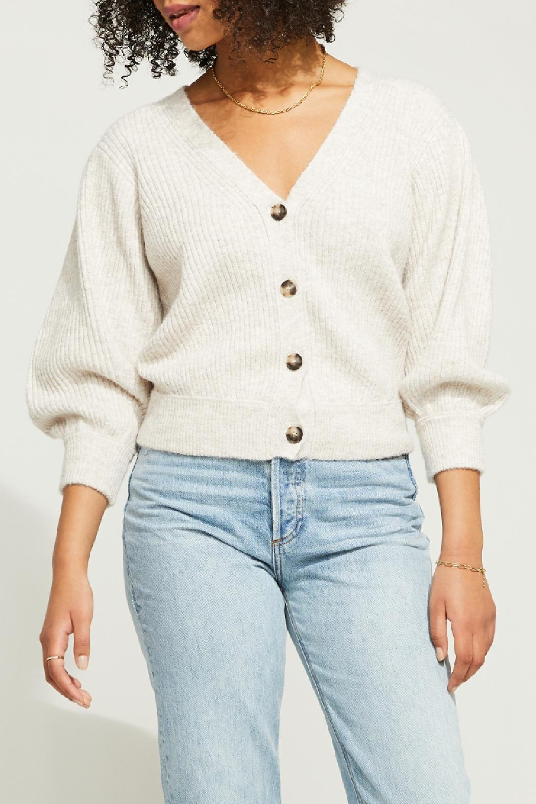 Gentle Fawn Cropped Button Front Cardigan - Main Image