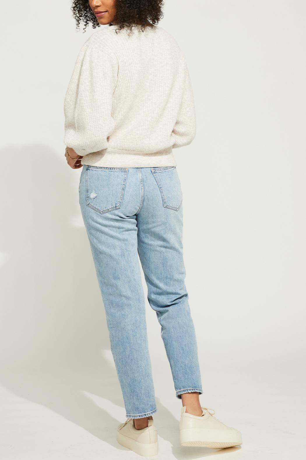 Gentle Fawn Cropped Button Front Cardigan - Back Cropped Image