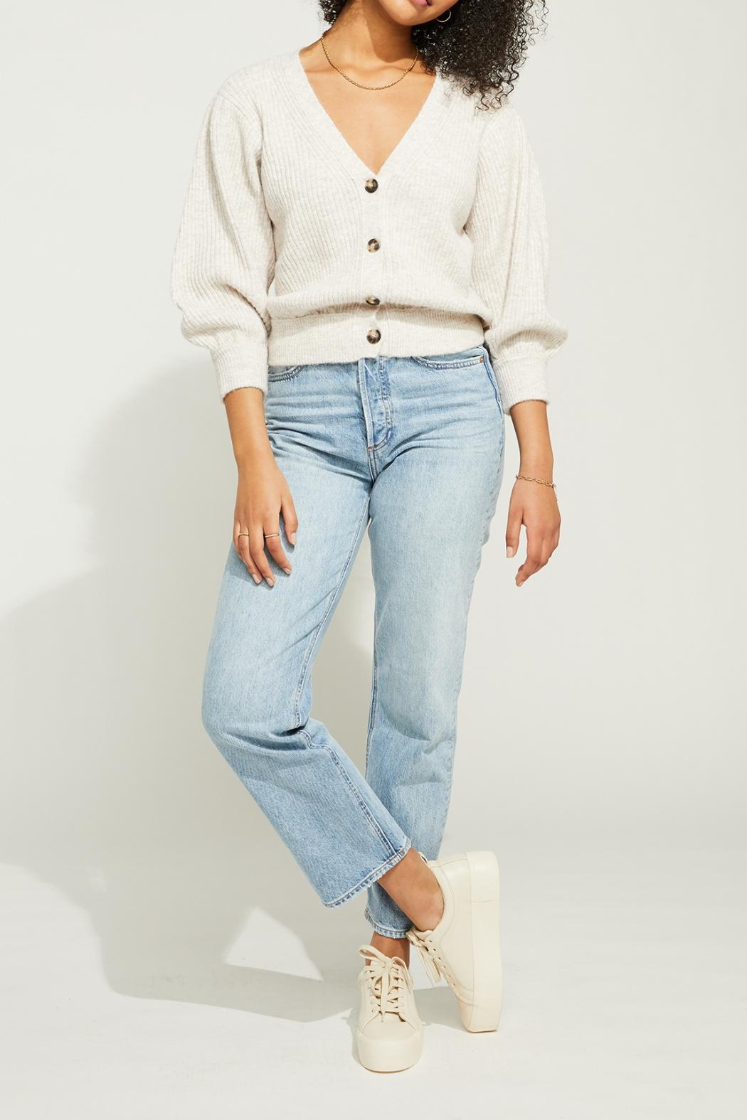 Gentle Fawn Cropped Button Front Cardigan - Front Full Image
