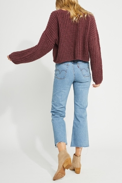 Gentle Fawn Cropped Fall Sweater - Alternate List Image
