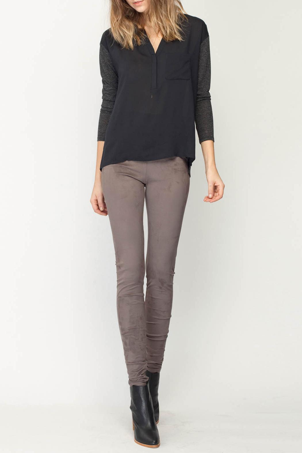 Gentle Fawn Eastwood Suede Legging - Front Cropped Image