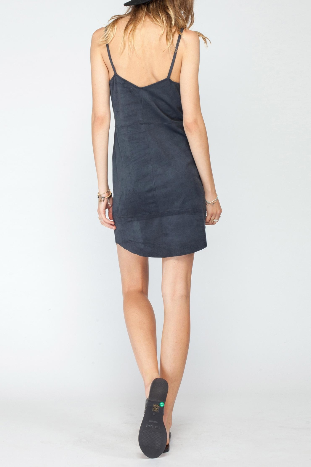 Gentle Fawn Faux Suede Dress - Front Full Image
