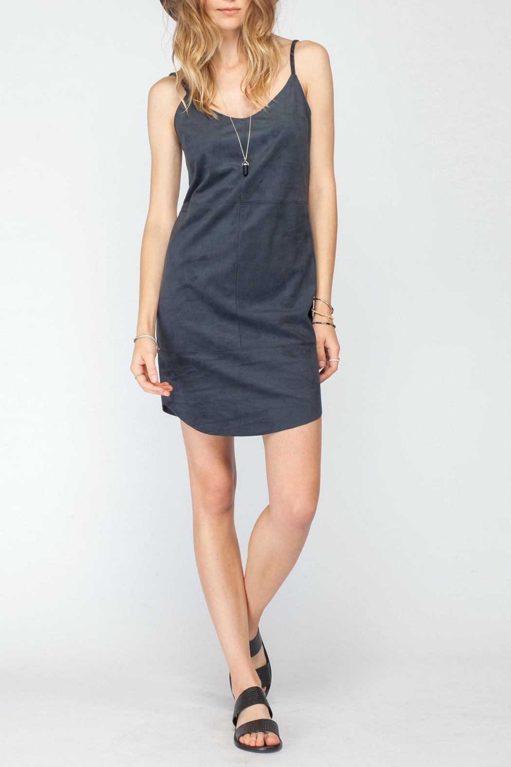 Gentle Fawn Faux Suede Dress - Main Image