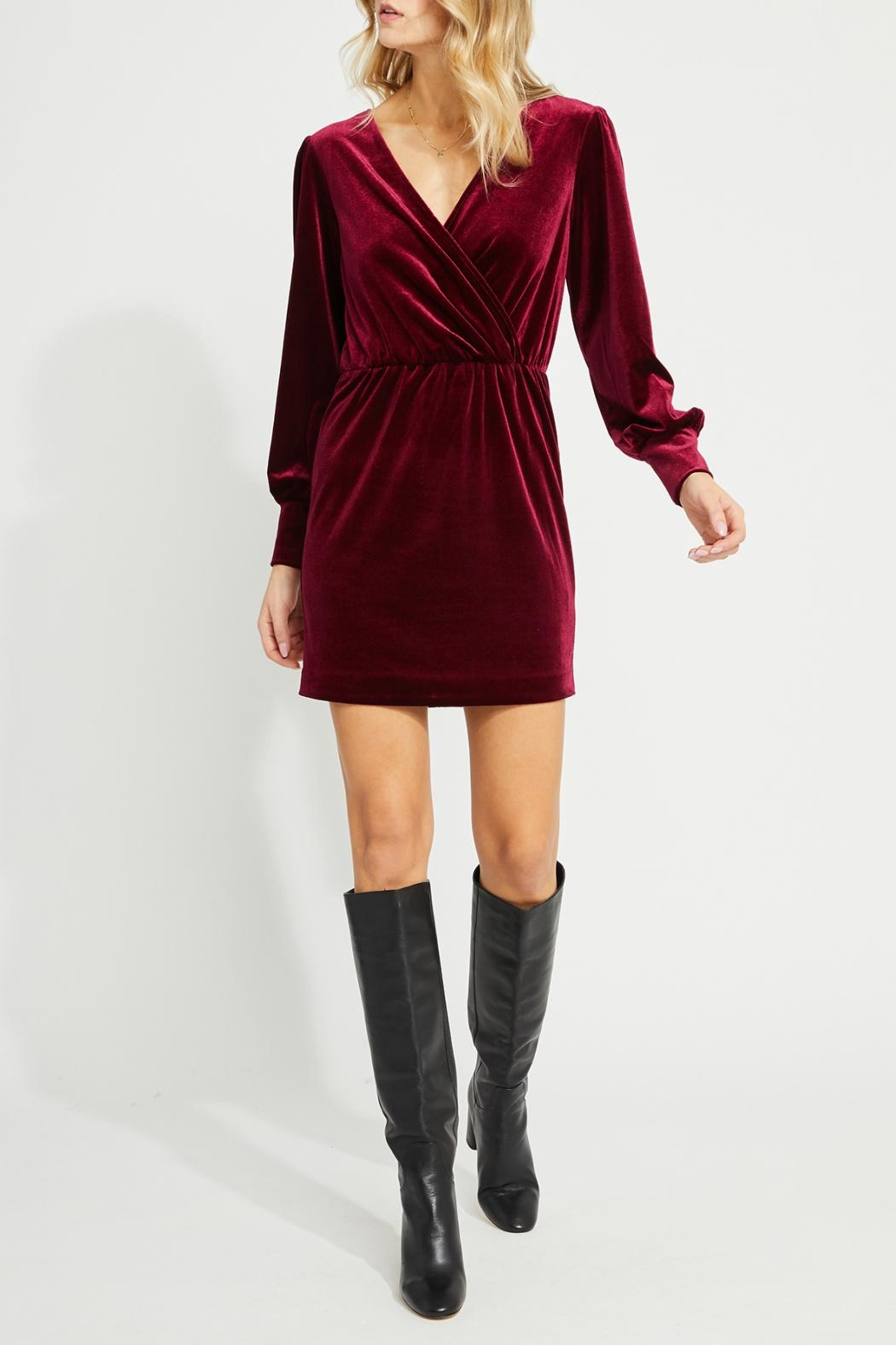 Gentle Fawn Faux Wrap Dress - Front Cropped Image