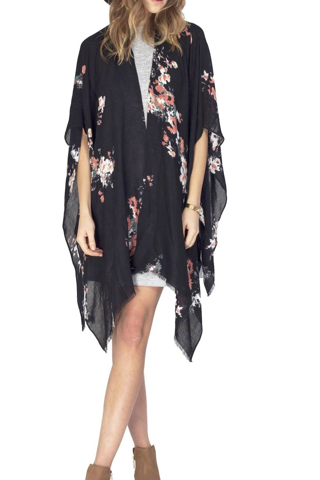 Gentle Fawn Floral Rally Kimono - Main Image