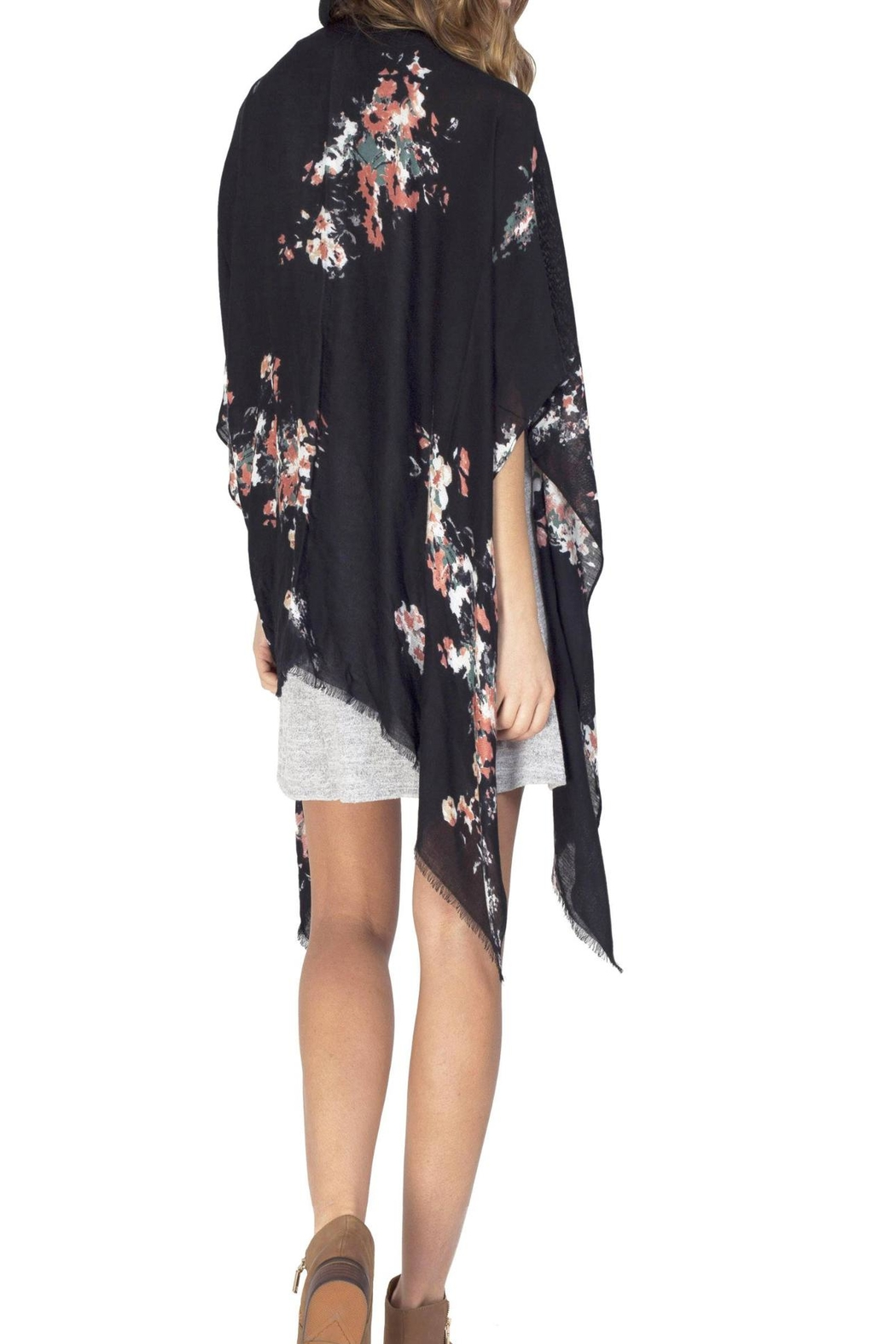 Gentle Fawn Floral Rally Kimono - Side Cropped Image
