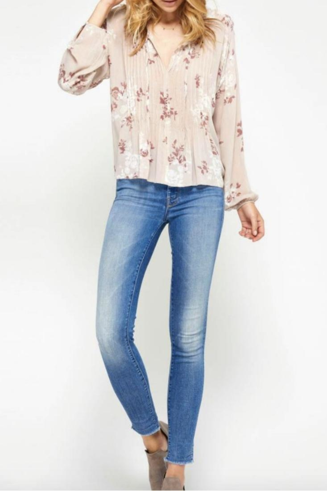 Gentle Fawn Floral Top - Main Image