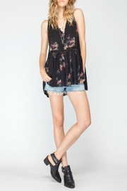 Gentle Fawn Floral Tunic Tank - Front full body