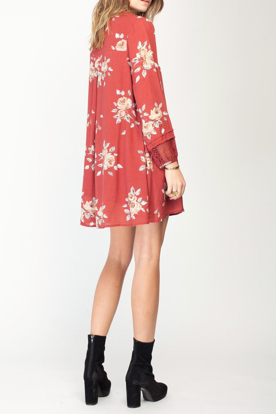Gentle Fawn Floral Utopia Dress - Side Cropped Image