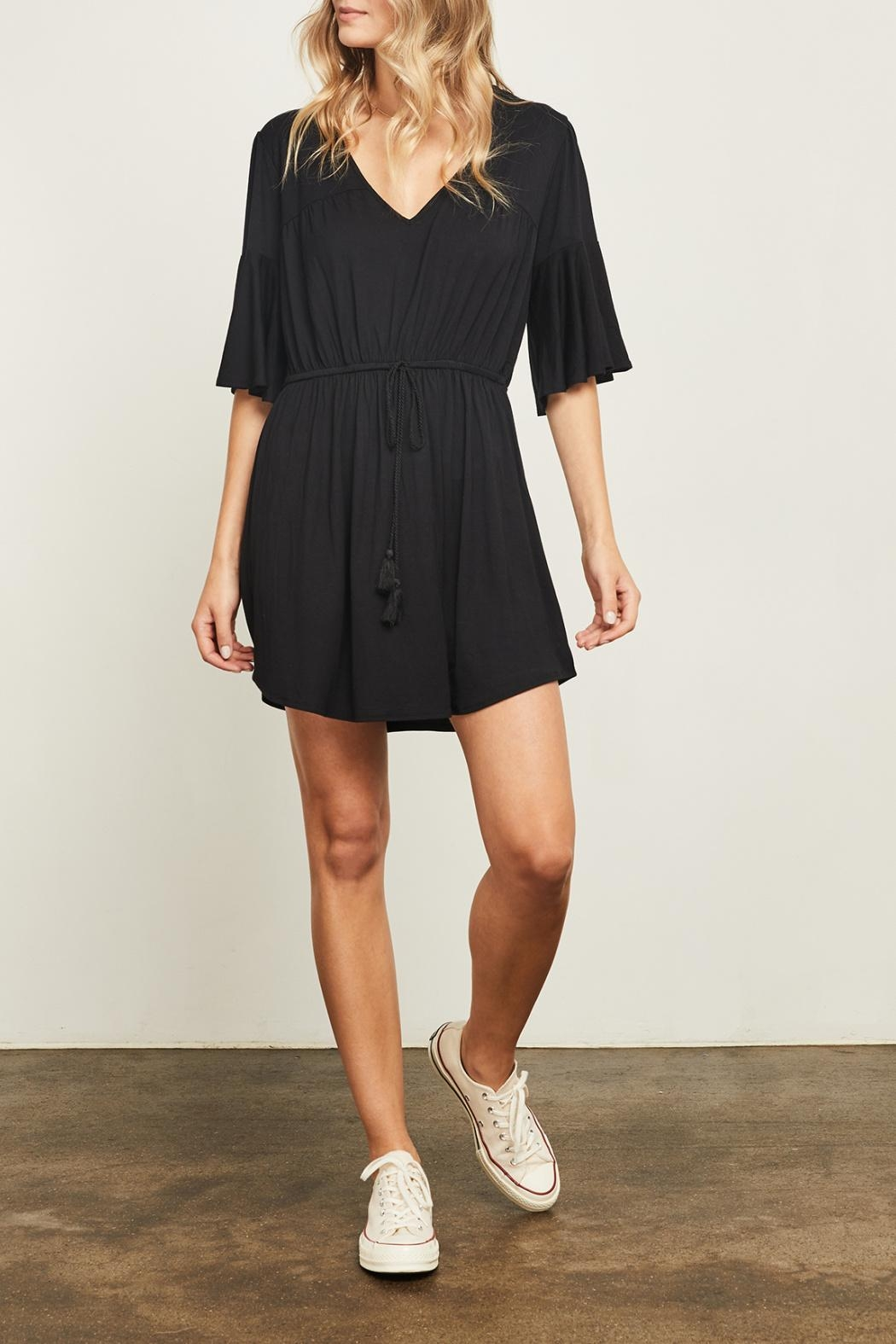 Gentle Fawn Flounce Sleeve Dress - Front Full Image
