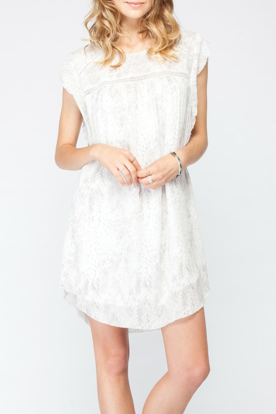 Gentle Fawn Flutter Sleeve Dress - Front Cropped Image