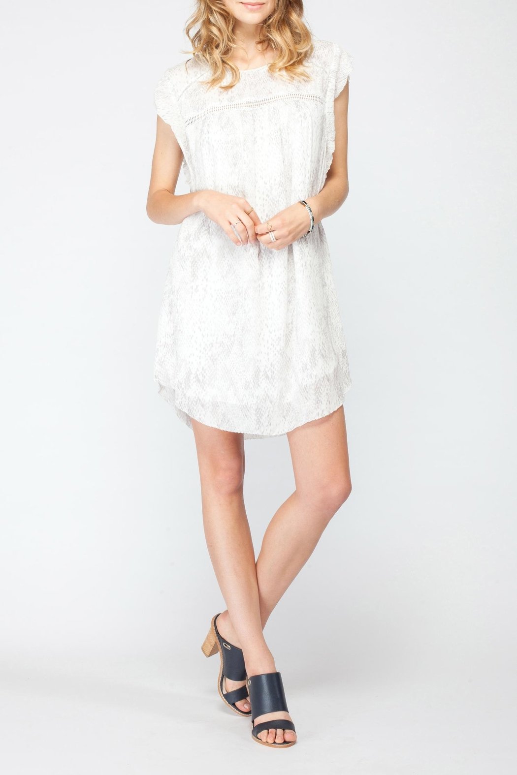 Gentle Fawn Flutter Sleeve Dress - Front Full Image