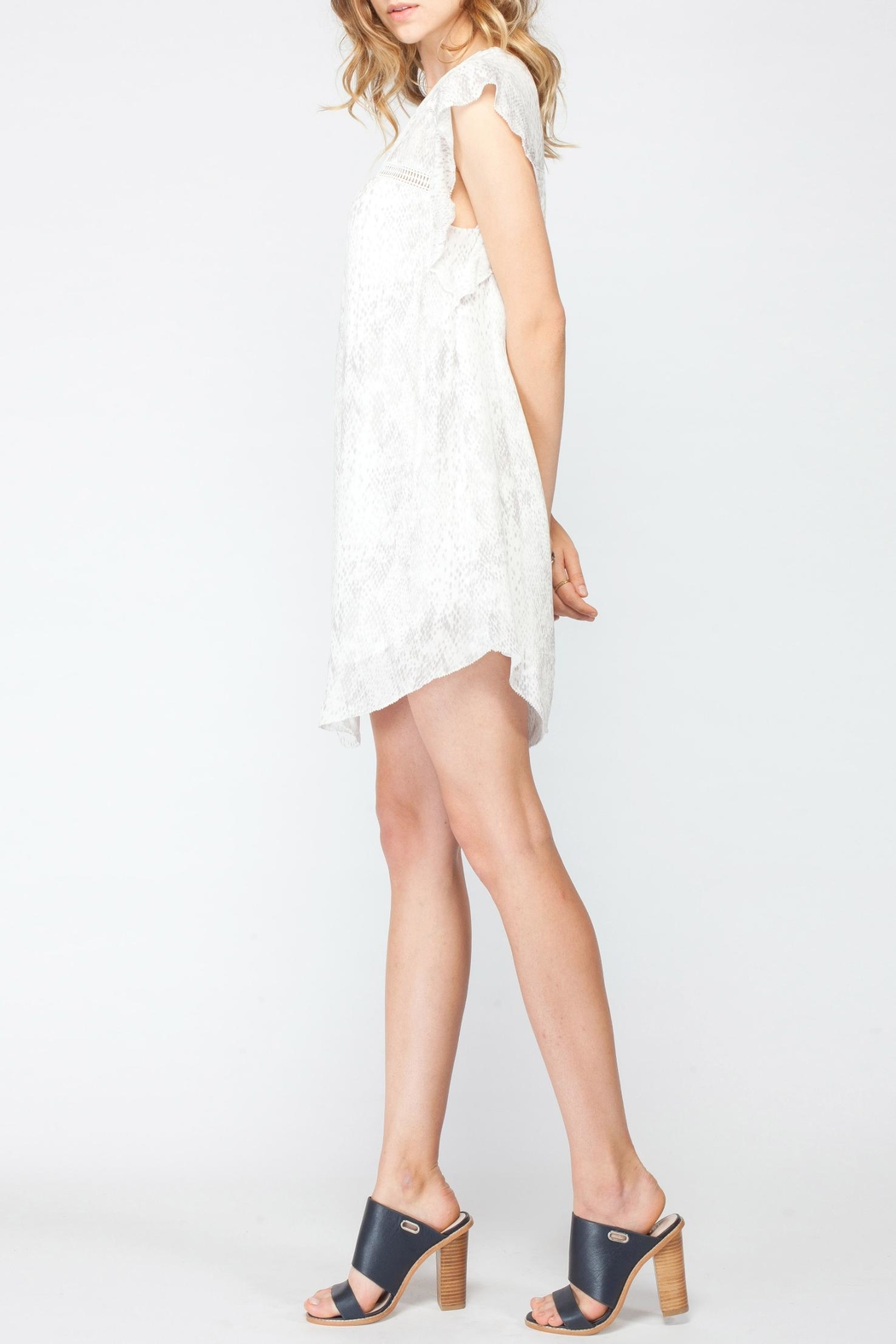 Gentle Fawn Flutter Sleeve Dress - Side Cropped Image